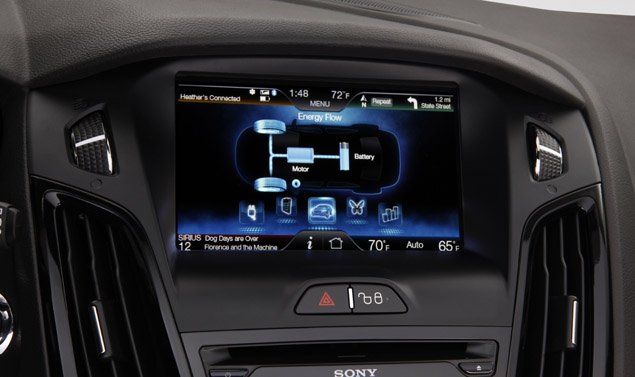 Ford Focus Electric - Il display interno
