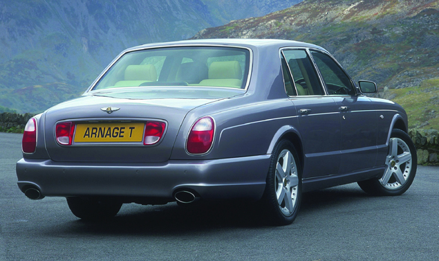 Bentley Arnage vista posteriore