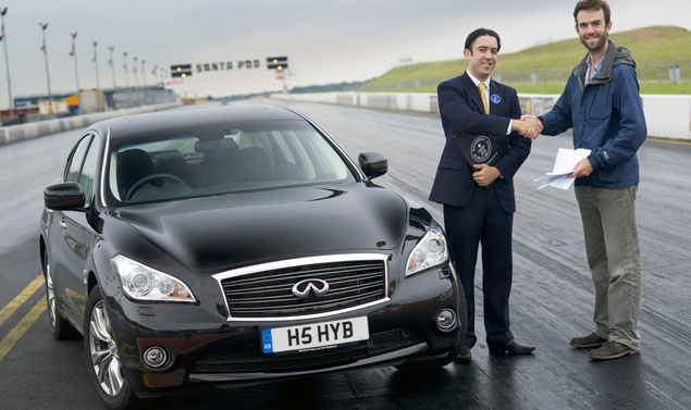 Infiniti M35h - Guinnes World Record