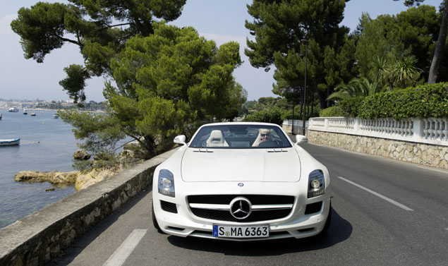 Mercedes SLS AMG Roadster - Anteriore White