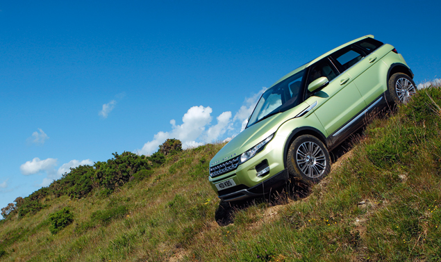 Range Rover Evoque Vista laterale