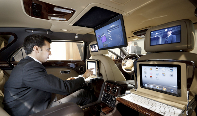 Bentley Mulsanne Executive Interior Concept - Schermi ovunque
