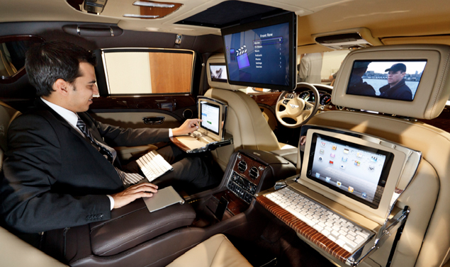 Bentley Mulsanne Executive Interior Concept - Un ufficio mobile