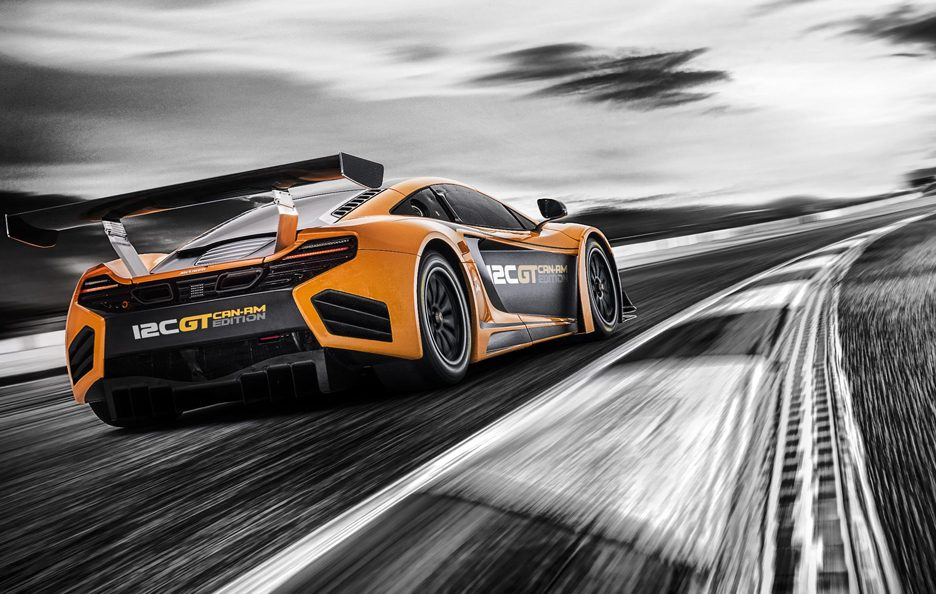 McLaren 12C GT Can-Am Edition - Profilo posteriore in motion