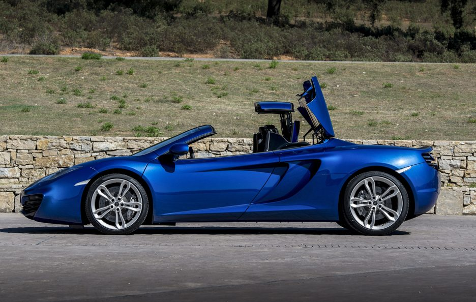 McLaren MP4-12C Spider - Blu - Tetto rigido apribile