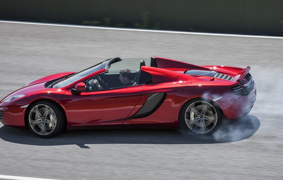 McLaren MP4-12C Spider - Il laterale