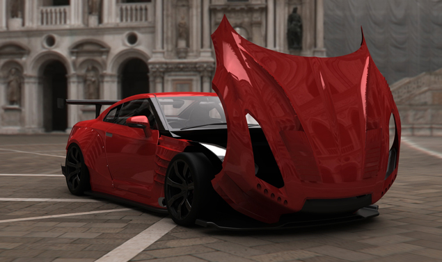 Nissan GT-R - Red - Anteriore