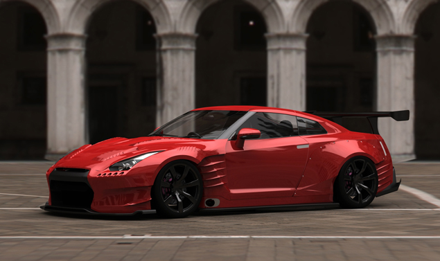 Nissan GT-R - Red - Design
