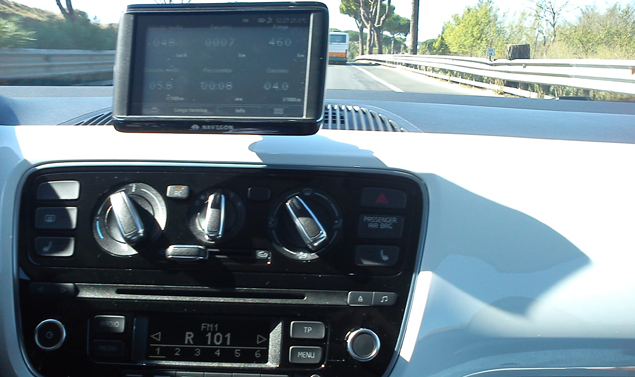 Volkswagen up! consolle centrale