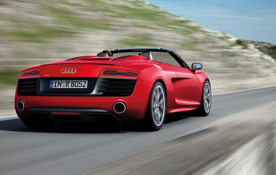 Audi R8 Spyder 2012 - Posteriore in motion