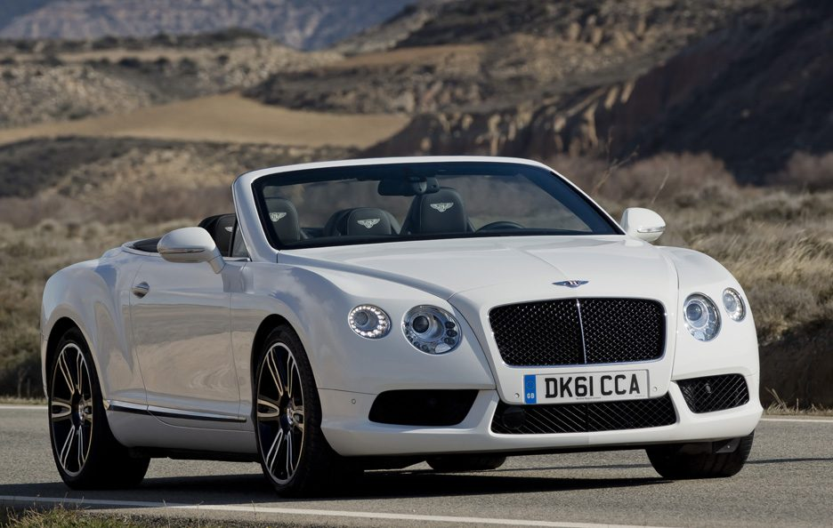 Bentley Continental GTC V8 Cabrio - White - Frontale