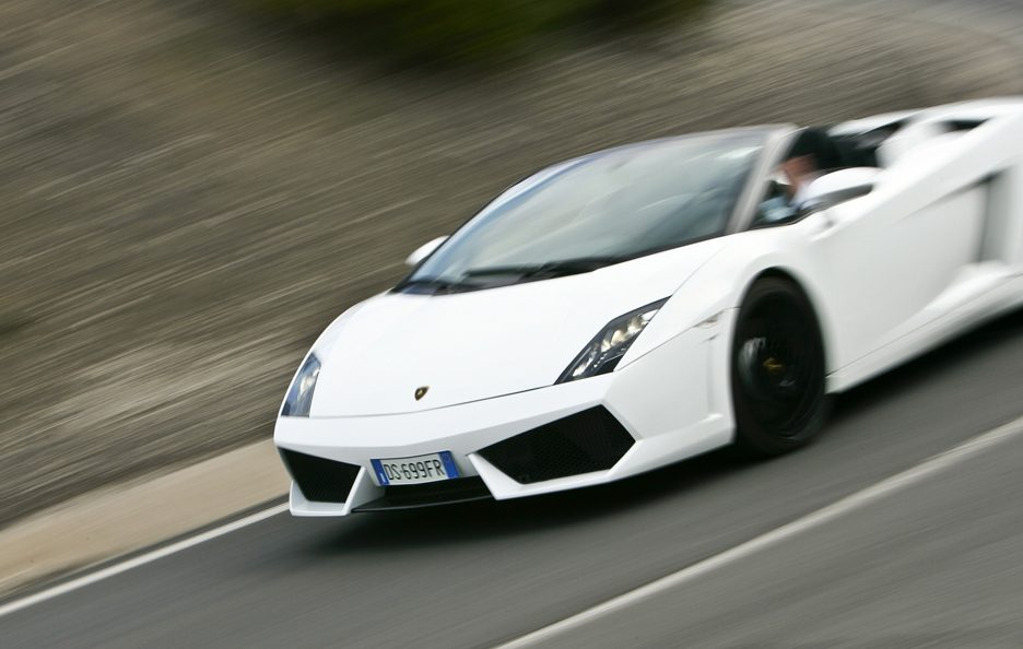 Lamborghini Gallardo LP 560-4 Spyder - Anteriore in motion
