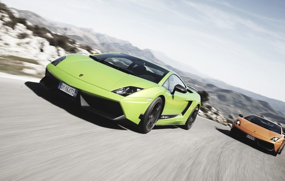 Lamborghini Gallardo LP 570-4 Superleggera - Frontale in motion