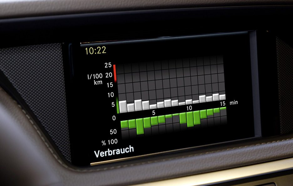 Mercedes E300 Bluetec Hybrid - Display