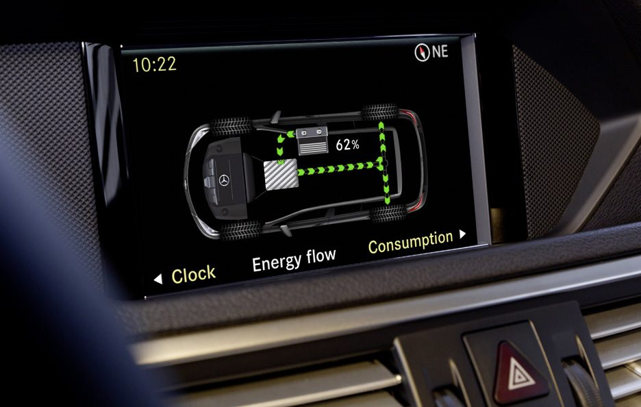 Mercedes E400 Hybrid - Display