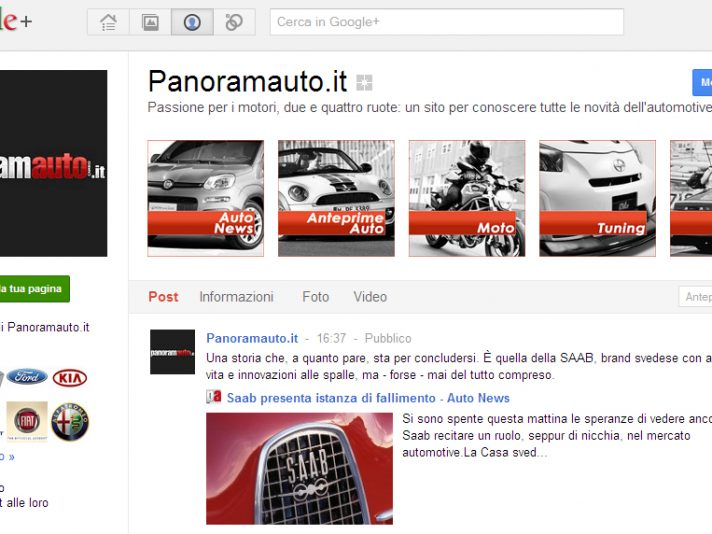 Panoramauto sbarca su Google Plus