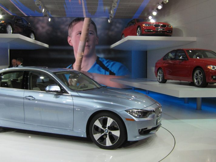 Lo stand BMW a Detroit