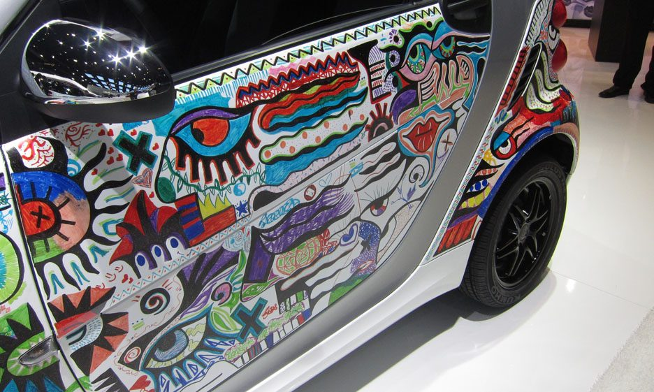 21 - Smart fortwo Billy the Artist portiera