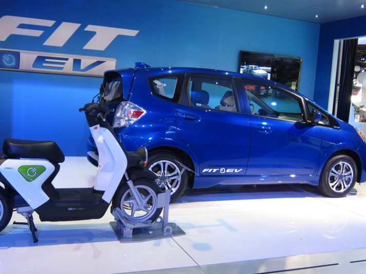 Honda Fit Ev a Detroit