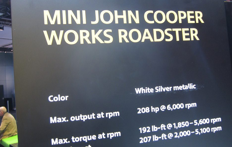 Mini Roadster John Cooper Works - Dettagli