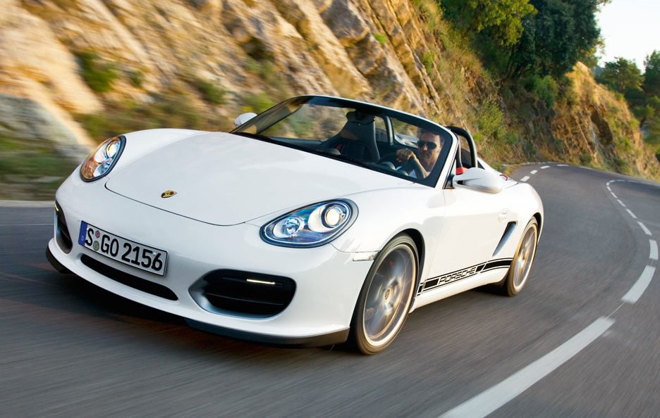 Porsche Boxster Spyder - Frontale in motion