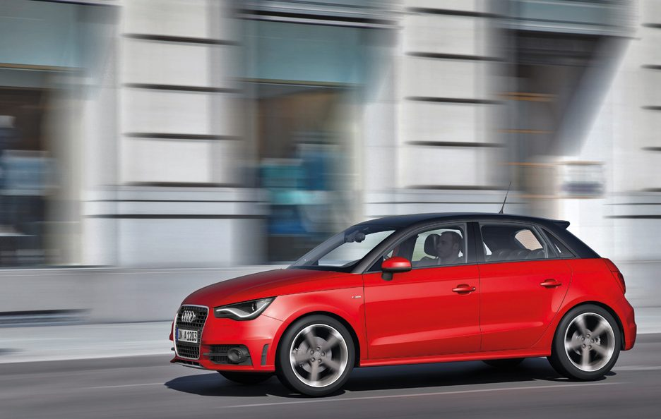 Audi A1 Sportback Rossa - In motion frontale