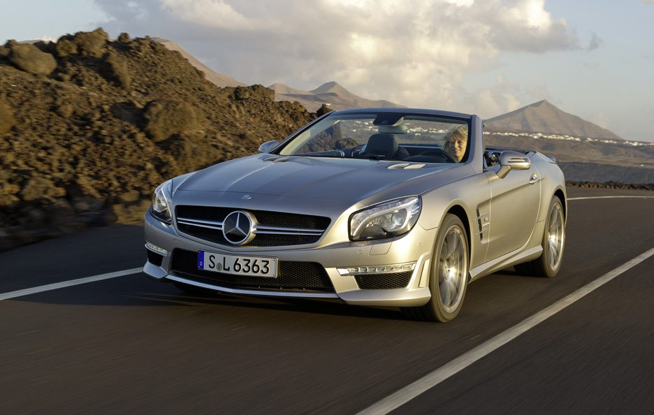 Mercedes SL 63 AMG - Profilo frontale in motion