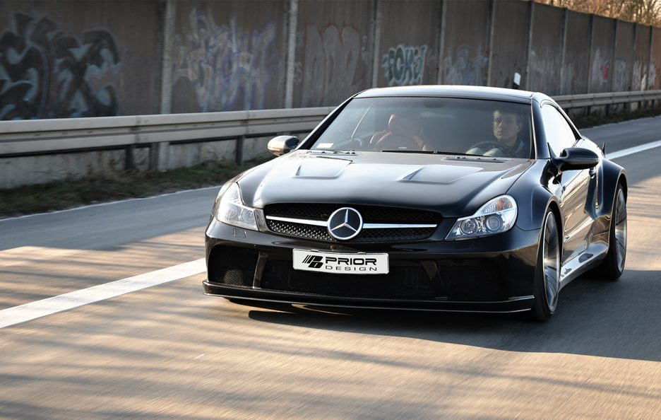 PD - Mercedes SL blackedition BLACK - Frontale in motion