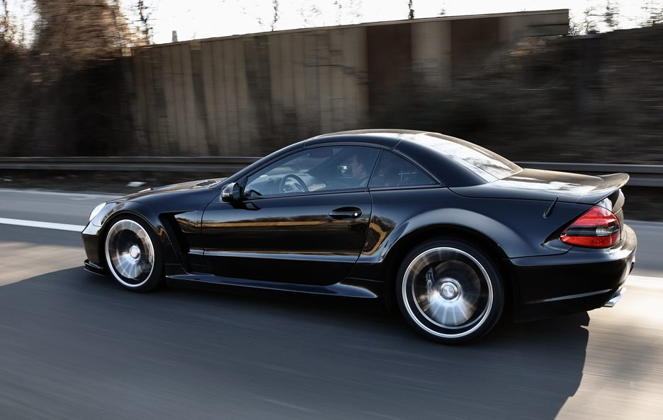 PD - Mercedes SL blackedition BLACK - Laterale