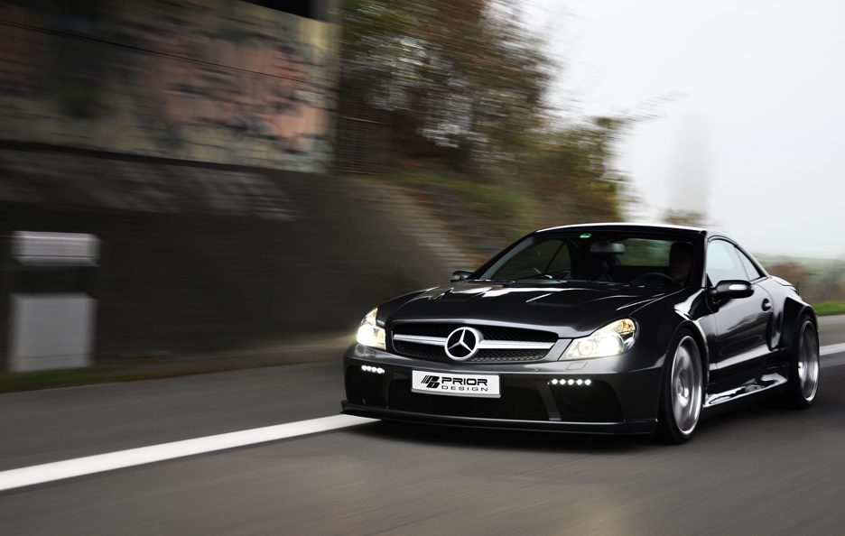PD - Mercedes Sl blackedition widebody GREY - Frontale in motion