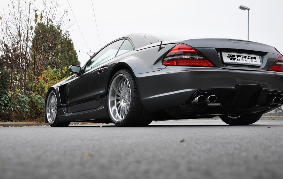 PD - Mercedes Sl blackedition widebody GREY - Posteriore basso