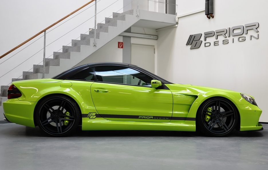 PD - Mercedes Sl blackedition widebody Igreen - Laterale