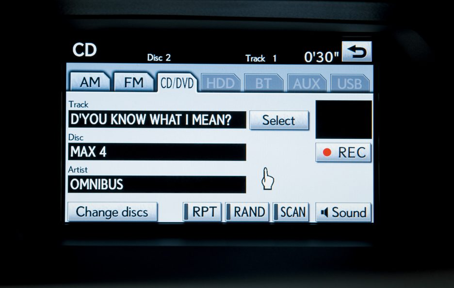 21 - Lexus RX 450h display