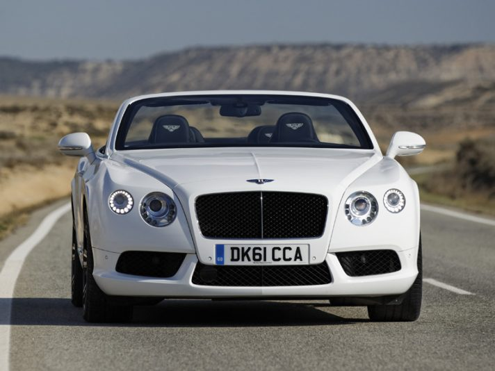 Bentley Continental GTC V8 Cabrio - White - Anteriore