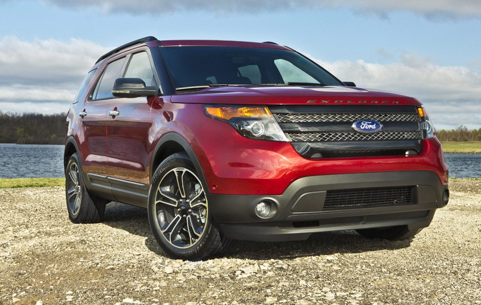 Ford Explorer Sport - RED - Profilo frontale