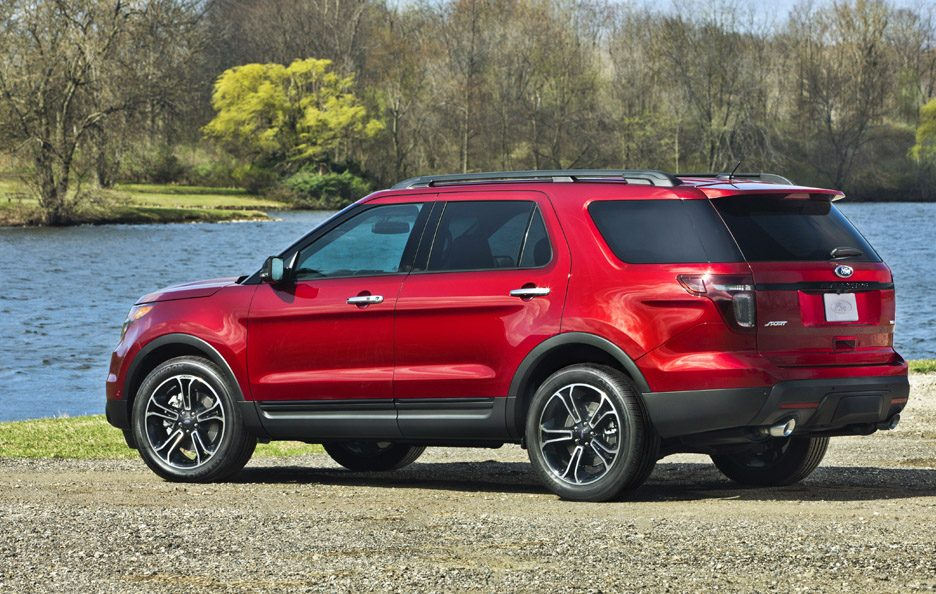 Ford Explorer Sport - RED - Profilo laterale posteriore
