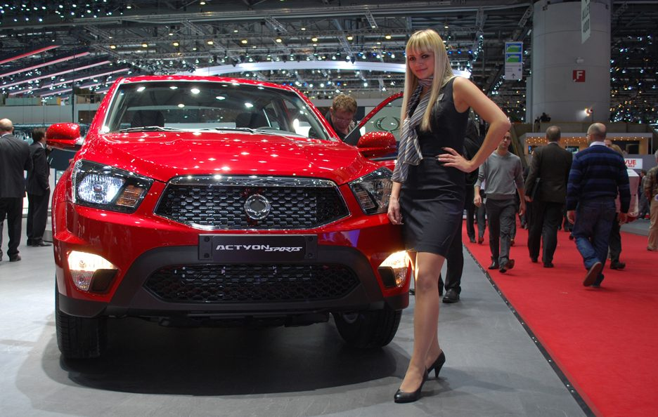 Ginevra 2012 - Ssangyong Actyon Sports frontale 2