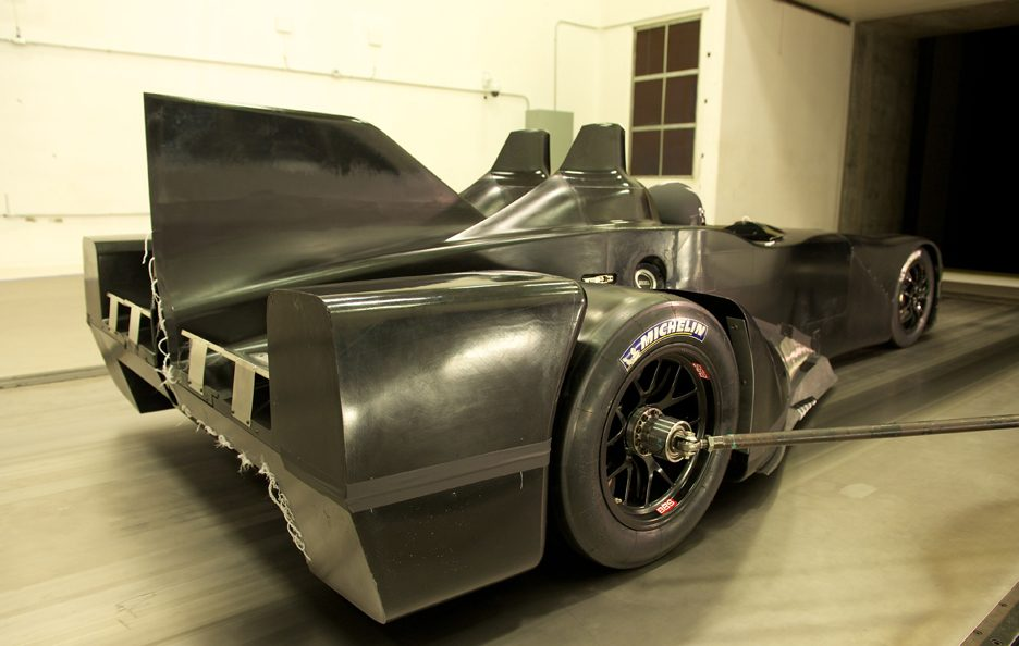 Nissan DeltaWing - Il retrotreno - Test