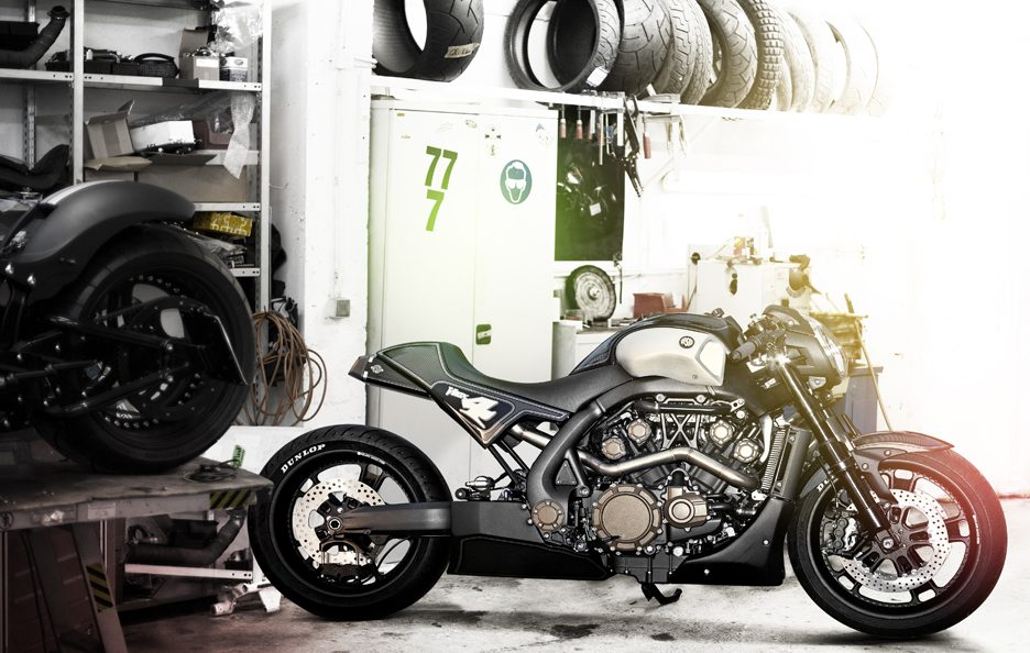Yamaha VMAX Hyper Modified by Roland Sands (5)
