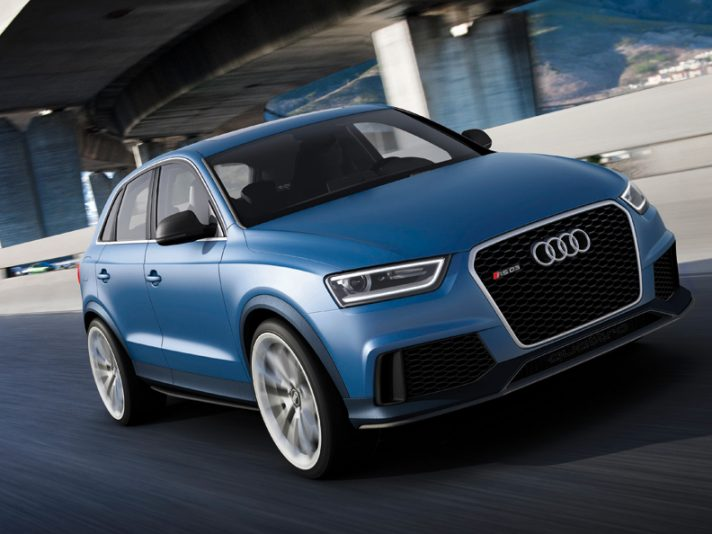 Audi RS Q3 - Profilo frontale in motion