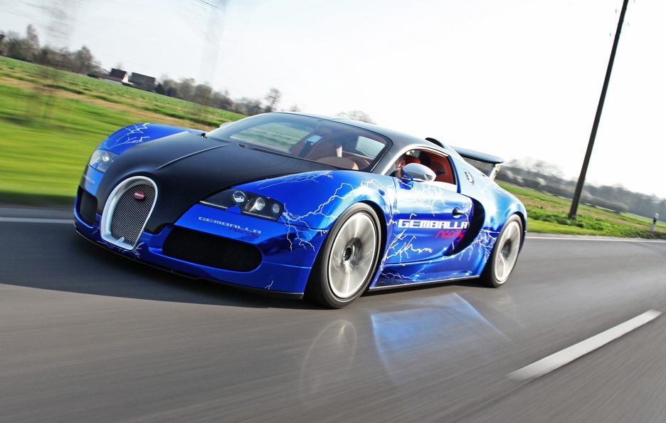 Bugatti Veyron Sang Noir by Cam Shaft - Profilo frontale in motion