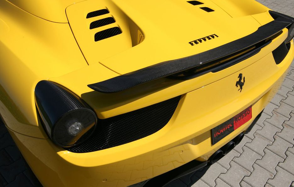 Ferrari 458 Spider by Novitec - Spoiler in carbonio
