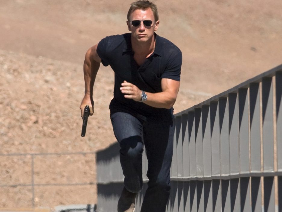 Daniel Craig in azione come James Bond