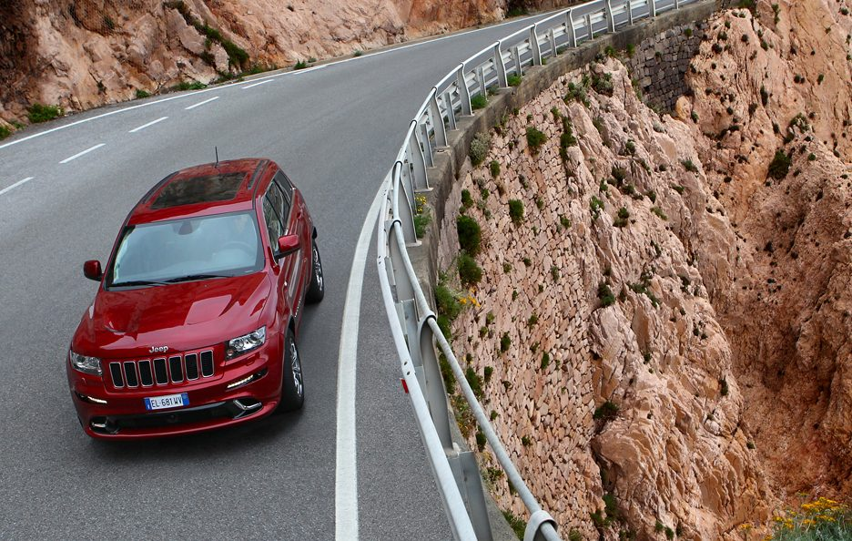 Jeep Grand CHerokee SRT - Dall'alto