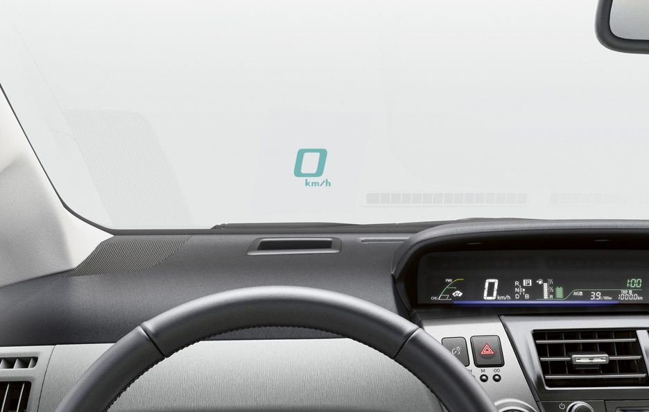 Toyota Prius+ - Head Up Display