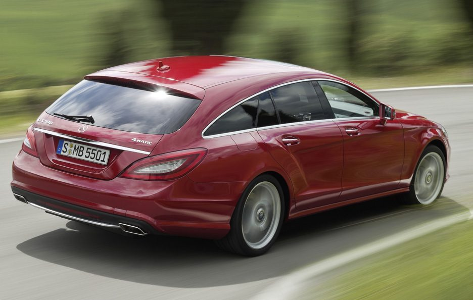 Mercedes CLS Shooting Brake - Red - Il profilo posteriore