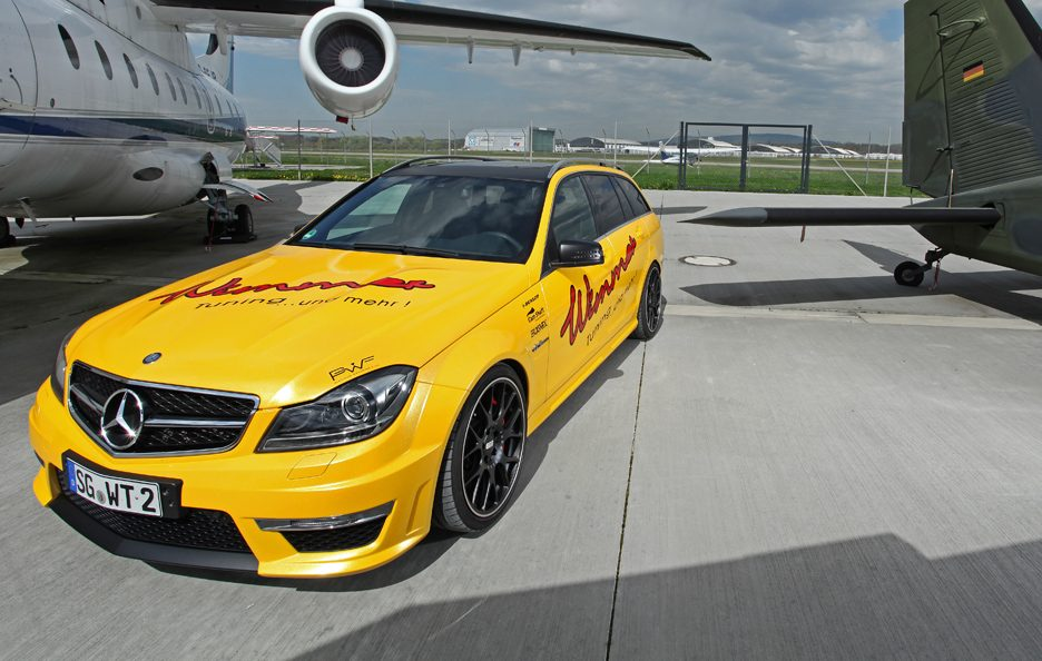 Mercedes C 63 AMG Wagon by Wimmer - Frontale alto