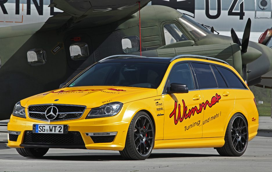 Mercedes C 63 AMG Wagon by Wimmer - Profilo frontale