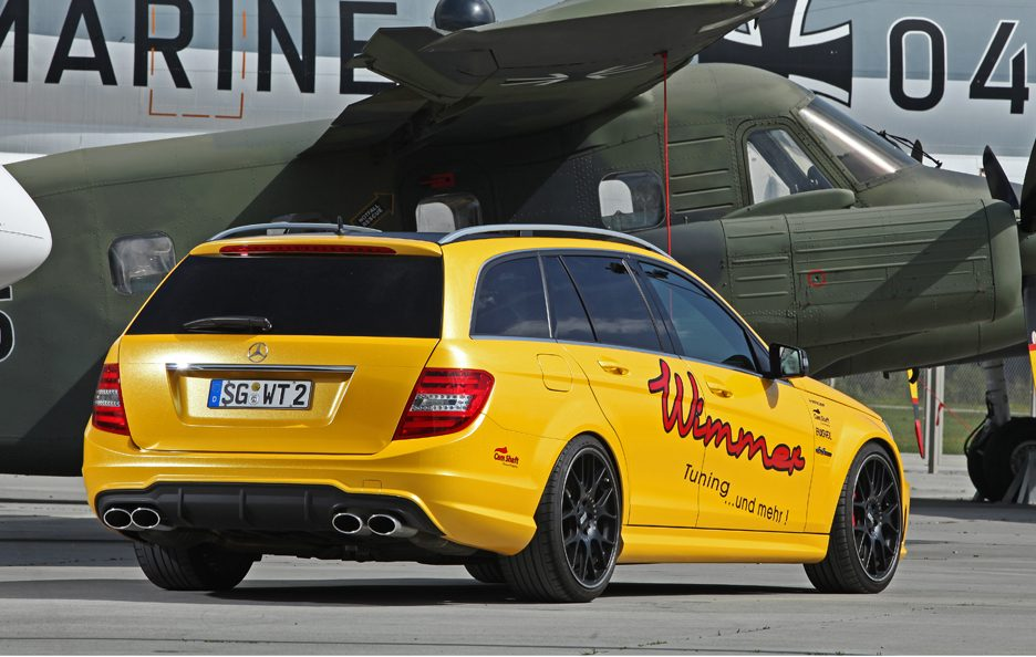 Mercedes C 63 AMG Wagon by Wimmer - Profilo posteriore