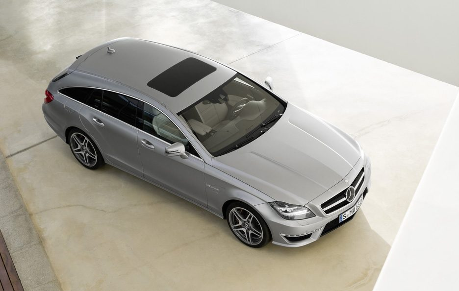Mercedes CLS 63 AMG Shooting Brake - Dall'alto